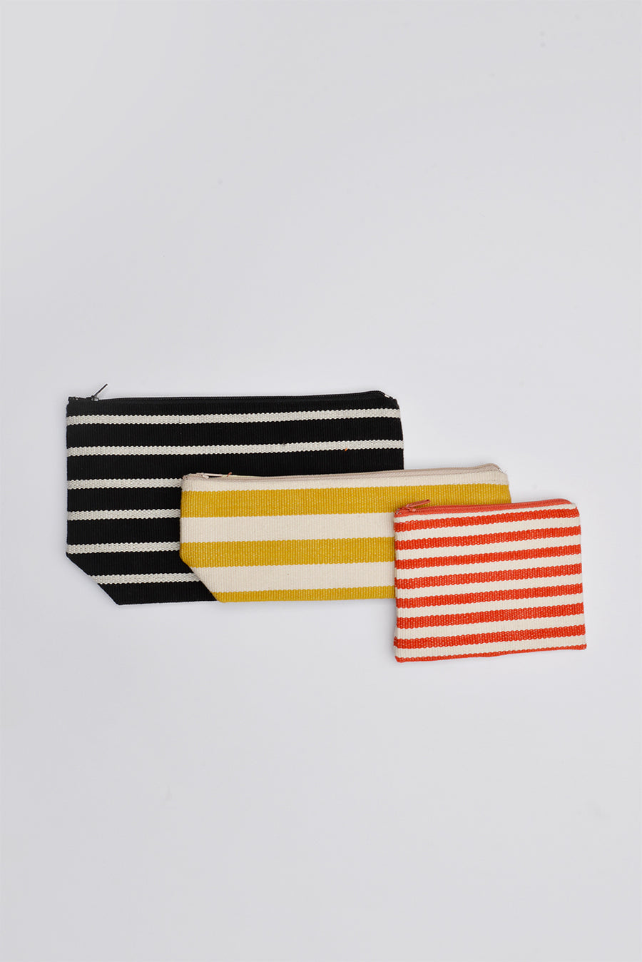 Striped Pouches & Pencil cases (Set of 3)