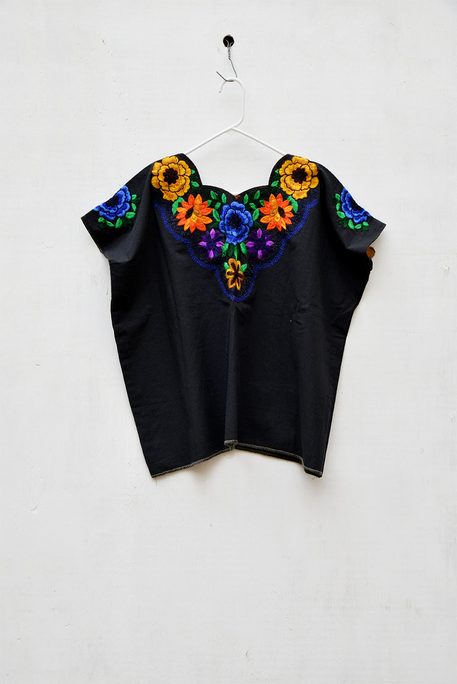 Floral Blouse Black