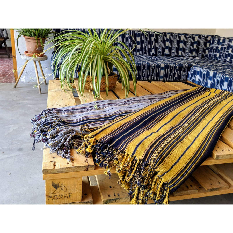 Naturally dyed blanket Small
