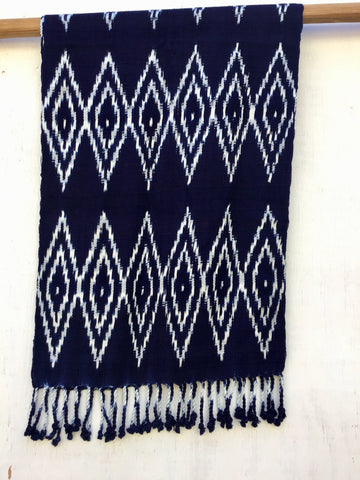 Diamond Natural Dye Scarf Indigo