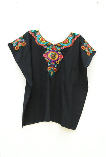 Floral Blouse Black small flowers