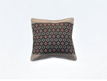 Elegant Cushion Cover Beige and Black