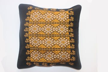 Diamond Cushion Cover in Black