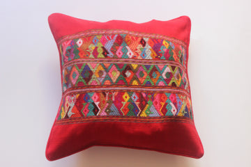 Mayan Flair Cushion Cover Red