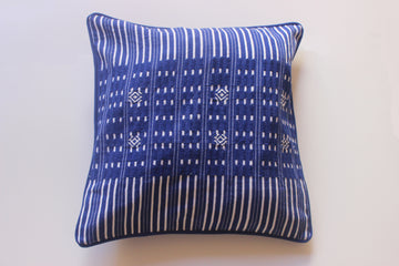Blue and White Stripe Cushion