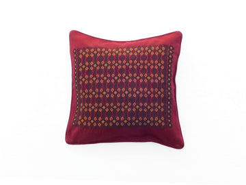 Bordeaux Geometric Cushion Cover