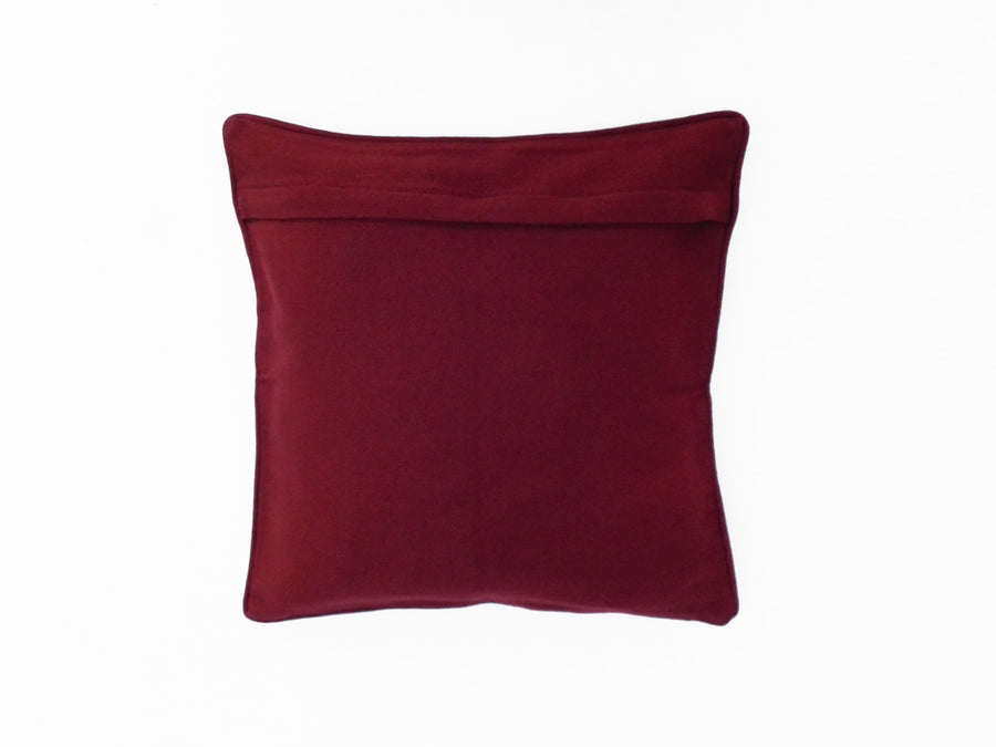 Red and Gold Diamond Cushion Cover