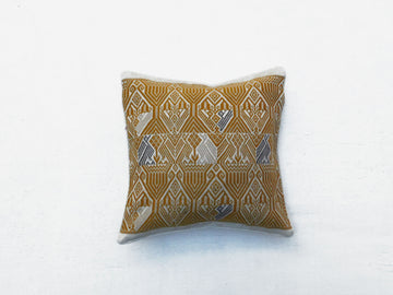 Quetzal Cushion Cover White and Mustard