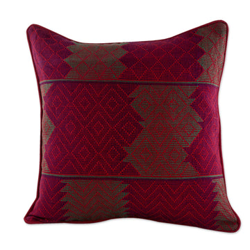 Red Diamond Cushion Cover
