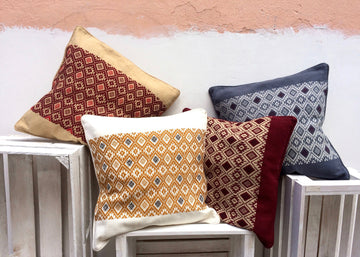 Handwoven Cushion Cover geometric Pattern