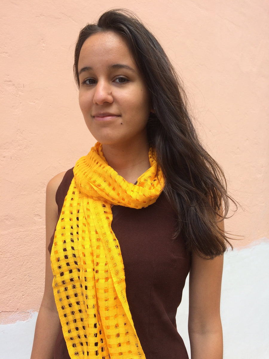 Small Handmade Openwork Very Light Guatemalan Fabric Scarves