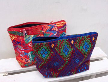 Small Sacatepequez Cosmetic Bag