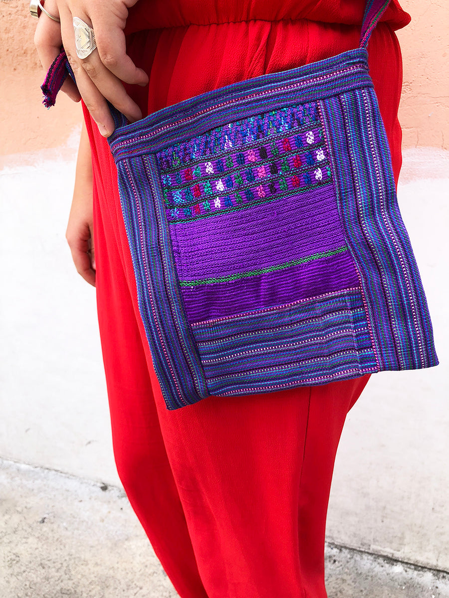 Small up cycled Guatemalan Huipil shoulder bag