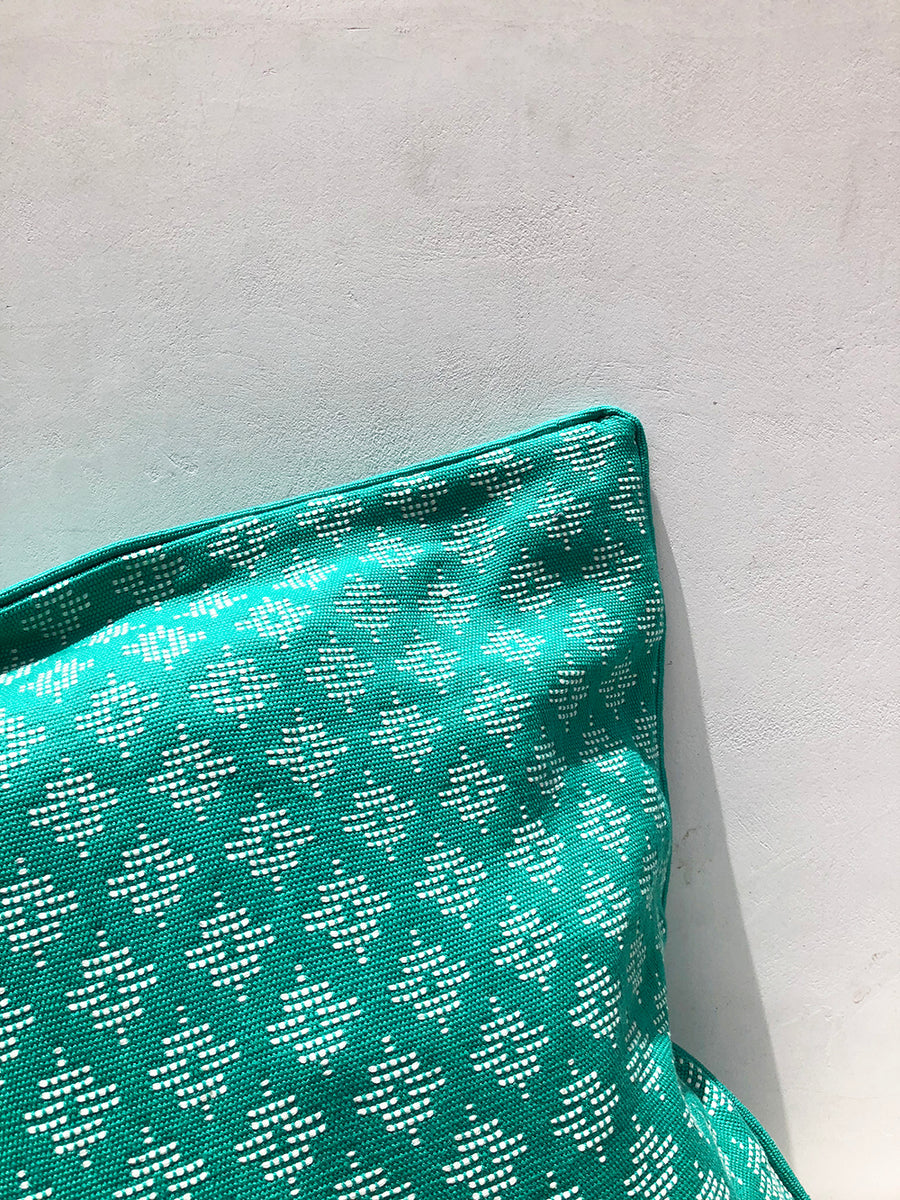 Turquoise Geometric Cushion Cover