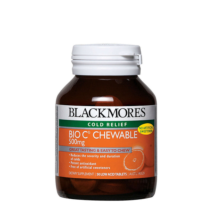BIO C CHEWABLE 500MG 50s - Blackmores Corporate Program by Kat Asia Pte Ltd
