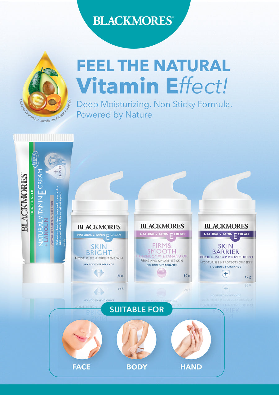 NATURAL VITAMIN E-CREAM FIRM & SMOOTH - Blackmores Corporate Program by Kat Asia Pte Ltd