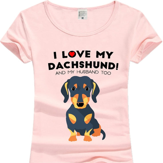 Cotton Dachshund T-shirt For Her