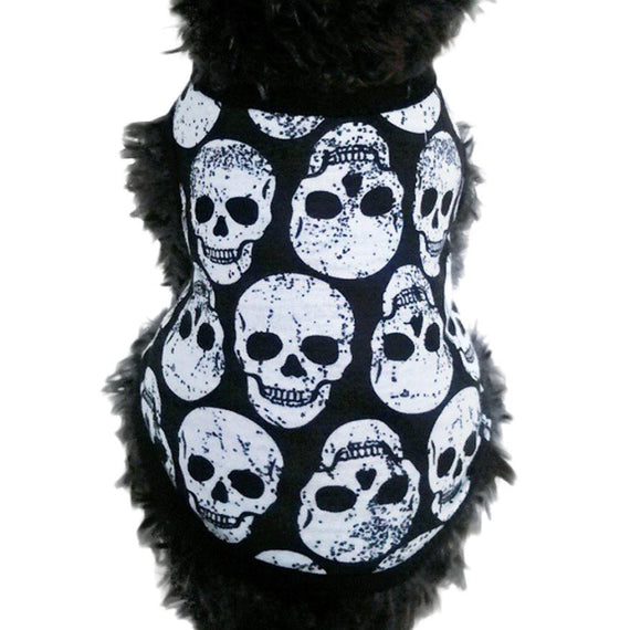 Cotton Skull Head Pet Vest