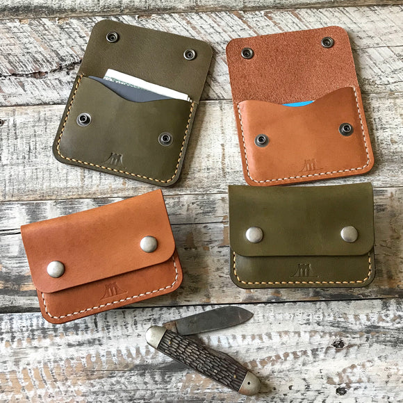 Leather Wallet Snap Wallet