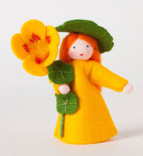 Indian Cress Fairy - Eco Flower Fairies, handmade wool felt Waldorf dolls