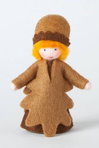 Acorn Prince (standing felt doll, fruit hat) - Eco Flower Fairies - Waldorf Doll Shop - Handmade by Ambrosius