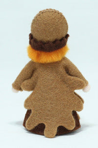 Acorn Prince (miniature standing felt doll, fruit hat) - Eco Flower Fairies LLC - Waldorf Doll Shop - Handmade by Ambrosius
