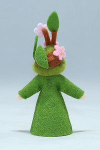 Apple Blossom Prince (standing felt doll, flower hat)
