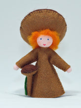 Mushroom Fairy - Eco Flower Fairies, handmade wool felt Waldorf dolls
