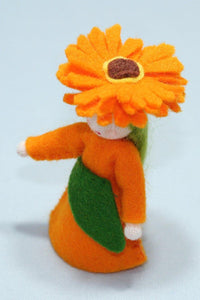 Calendula Fairy - Eco Flower Fairies, handmade wool felt Waldorf dolls
