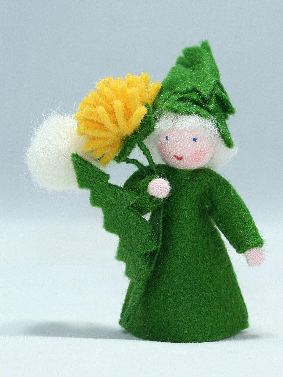 Dandelion Fairy (holding flower, fair skin) | Waldorf Doll Shop | Eco Flower Fairies