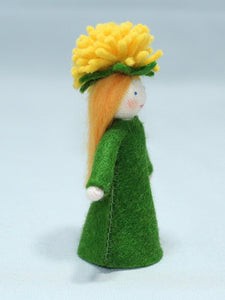Dandelion Fairy - Eco Flower Fairies, handmade wool felt Waldorf dolls