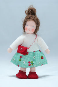 Waldorf Girl Doll (brown hair) | Waldorf Doll Shop | Eco Flower Fairies