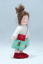 Girl with Purse - Eco Flower Fairies, handmade wool felt Waldorf dolls