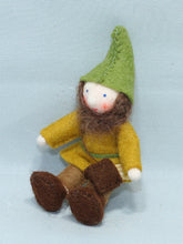 Forest Gnome - Eco Flower Fairies, handmade wool felt Waldorf dolls