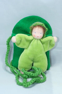 Baby in Pocket Purse | Waldorf Doll Shop | Eco Flower Fairies