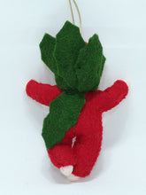 Baby Holly Berry - Eco Flower Fairies, handmade wool felt Waldorf dolls