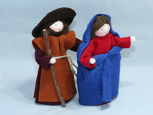 Holy Family - Eco Flower Fairies, handmade wool felt Waldorf dolls