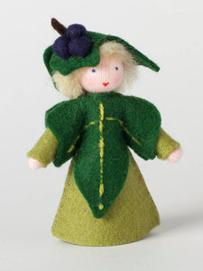 Ivy Fairy - Eco Flower Fairies, handmade wool felt Waldorf dolls