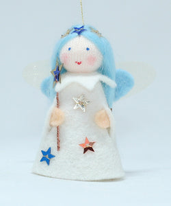 Jingle Fairy - Eco Flower Fairies, handmade wool felt Waldorf dolls