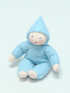 Baby Doll (bendable felt doll, fair skin) - Eco Flower Fairies - Waldorf Doll Shop - Handmade by Ambrosius