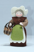 Mother Earth - Eco Flower Fairies, handmade wool felt Waldorf dolls