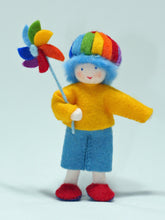 Rainbow Child (bendable felt doll)