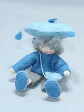 Rain Child - Eco Flower Fairies, handmade wool felt Waldorf dolls
