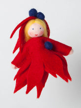 Ivy Leaf Princess from Eco Flower Fairies, wool felt handmade dolls