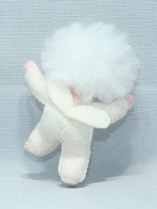 Baby Snowflake - Eco Flower Fairies, handmade wool felt Waldorf dolls