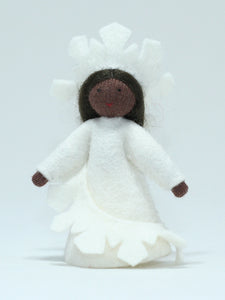 Snowflake Fairy - Eco Flower Fairies, handmade wool felt Waldorf