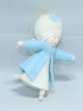 Snow Fairy - Eco Flower Fairies, handmade wool felt Waldorf doll