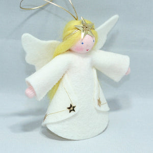 Star Angel - Eco Flower Fairies, handmade wool felt Waldorf dolls