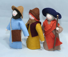 Three Shepherds - Eco Flower Fairies, handmade wool felt Waldorf dolls