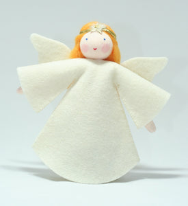 Tree Top Angel - Eco Flower Fairies, handmade wool felt Waldorf dolls